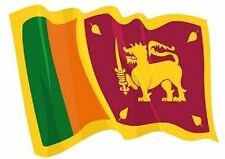 Aufkleber wehende Flagge Sri Lanka Fahne wehend 28 x 20 cm Autoaufkleber
