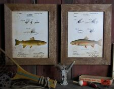Set of 2 Bass Fishing Patent Art Prints 8x10 Unframed Largemouth  Small SET01