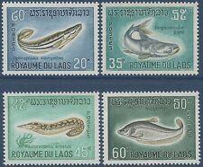 LAOS N°156/159** Poissons, TB, 1967, Fish  SC#148-151 MNH