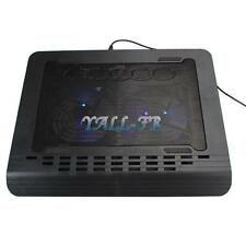 "USB LED Laptop PC Notebook 14"" - 16"" 2 Fan Cooling Cooler Pad Stand Black"