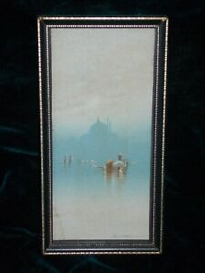 Original Victorian painting Frank Holmes 1879-c.1930 Signed Constantinople