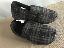 Mens Size Aus 10 Smart Checked Comfy Fabric Slippers in Navy Blue or Grey
