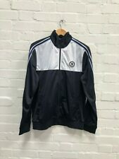 Chelsea FC Official Men's Classic Club Track Jacket - Large - Black/White - New
