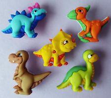 Dino-ácaros-lindo bebé dinosaurio Niños Animal Novedad Vestido para arriba Craft Botones