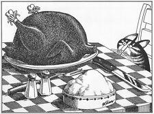 Kliban Cat Print Original Vintage Book Plate Art Top Quality For You To Enjoy
