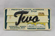 N-228 Vintage Prestige Metal House Number in Flowing Script Number Two