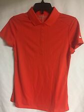 NEW WOMEN'S NIKE GOLF TOUR PERFORMANCE DRI-FIT POLO in ORANGE Size SMALL
