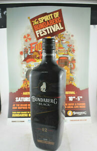 Bundaberg Rum Black 1 Litre First Release 2016, Plus Release Day Poster NO 3189