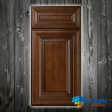 Solid Wood RTA Cabinet Sample Door Hazelnut, Wood Kitchen Cabinets Color: Brown