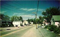 Vintage Postcard - Maine Street Scene ESSO Station Restaurant Unposted #2768