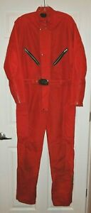 "Rare Vtg DAVCO 1 PC Suit Motorcycle SKi Snowmobile Solid Red 46"" ch x 30"" inseam"