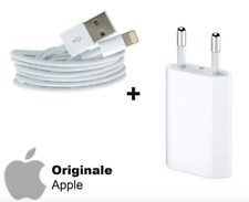 Carica Batteria ORIGINALE + Cavo Apple Lightning ORIGINALE iPhone 5 6 S 7 8 X