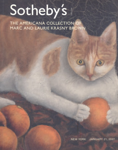 Sotheby's Catalogue Important Americana Coll. of Marc and Laurie Krasny Brown