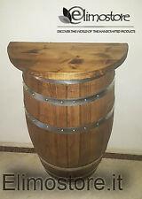 Mezza Botte da 100 litri botti legno con mensolina 60 cm