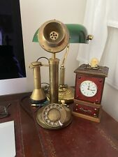 More details for vintage candle stick brass phone