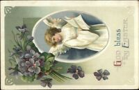 Easter Angel Child - Unsigned Clapsaddle c1910 Postcard rpx
