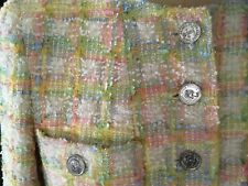 CHANEL RAINBOW MULTI COLOR WOOL TWEED JACKET COAT DRESS
