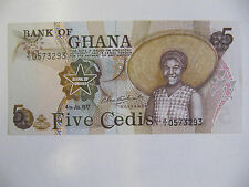 Ghana Banknote 5 Cedis P.15b Unc (1977)