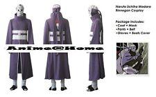 Top Quality Naruto Anime Madara Uchiha Rinnegan Cosplay Costume S-XXXL