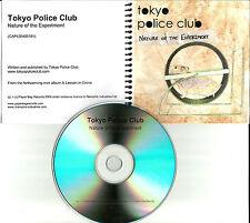 TOKYO POLICE CLUB Nature of the Experiment UK PROMO DJ CD single 2006 USA SELLER