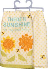 """There Is Sunshine in my soul today""~28""~Tea Towel~Hand/Kitchen/Dish~F lower/Bee"