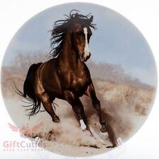 Dulevo Porcelain decorative plate with Arabian horse souvenir