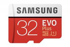 Samsung EVO Plus - Tarjeta de memoria microSD de 32 GB con adaptador SD, 95 MB/s