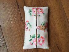 Handmade Packet Tissue Holder Made With Cath Kidston White Ashdown Rose Fabric