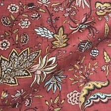 """Red Eclectic Floral Upholstery Fabric by the Yard - 54"""""""