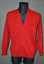Mens Paul & Shark Wool Jumper Top Sweater Button Cardigan Red  Size M Medium