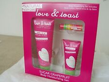 "NATURAL BODY CARE LOVE & TOAST""SUGAR GRAPEFRUIT""BODY LOTION, HANDCREAM, LIP BALM"