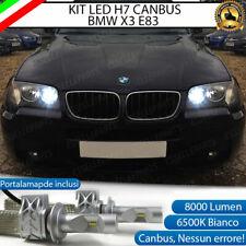 KIT LED BMW X3 E83 LED 6500K 8000 LM ABBAGLIANTE CANBUS ULTRALUMINOSI NO ERROR