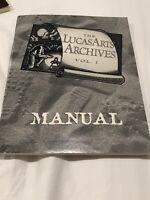 The LucasArts Archives Vol 1 Manual