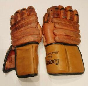 Pair of Vintage Cooper 64 Canada Ice Hockey Gloves Armadillo thumb