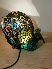 Peacock Lamp Tiffany Style Stained Glass Home Lamp Lighting Night Light
