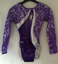 ZONE SQUIGGLE LONG SLEEVE LEOTARD    AGE 11/13    SIZE 32