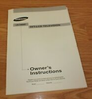 Owner's Instructions Manual Only For Samsung LN-T4066F Television **READ**