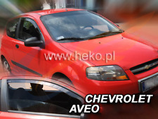 CHEVROLET AVEO 3-doors 2004-2006 2-pc wind deflectors HEKO Tinted