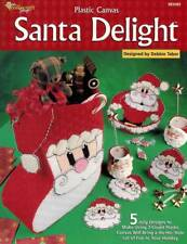 Santa Delight Plastic Canvas PATTERN Christmas Craft Design Red White Bazaar