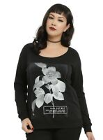 Womens Plus Size Fall Out Boy FOB Flowers Long Sleeve Shirt NWT 0, 1, 2, 3, 5