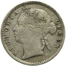 1891 10 Cents Straits Settlements Queen Victoria Coin (MO1806-)