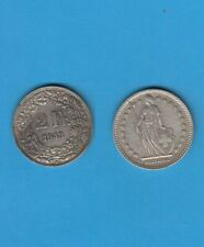 § Suisse  Swiss  Helvétia  2 Francs argent  1943  Helvétia debout Silver coin