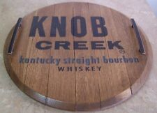 Whiskey Barrel Head Lazy Susan and serving tray-Your Choice of brand logo