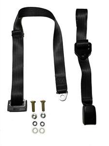 Universal Non Retractable Lap Belt 1.2M - Adjustable Webbing Buckle - ADR Approv