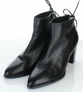 38-33 $550 Women's Sz 7 Stuart Weitzman Gardiner Leather Block Heel Bootie