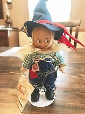 Vintage Wizard of Oz Kewpie Doll Scarecrow Cameo Jesco New With Tags & Stand 10�