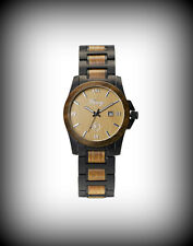 Fancy Steelwood Armbanduhr Stylisch Holz Wood Design Edelstahl grünes Sandelholz