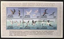 MALDIVES SEA BIRDS STAMPS SHEET 6V 2002 MNH TERN FRIGATE NODDY NATURE WILDLIFE
