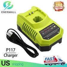 P117 Battery Charger for Ryobi 9.6V 12V 14.4V 18V Lithium& NiCD & NiMH P100 P108