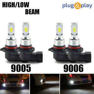 9005 9006 Combo LED Headlight Bulbs for Toyota Corolla 2001-2013 High & Low Beam